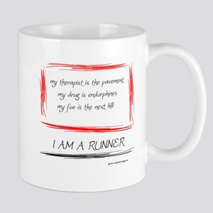 I Am A Runner Slogan #5 Mug